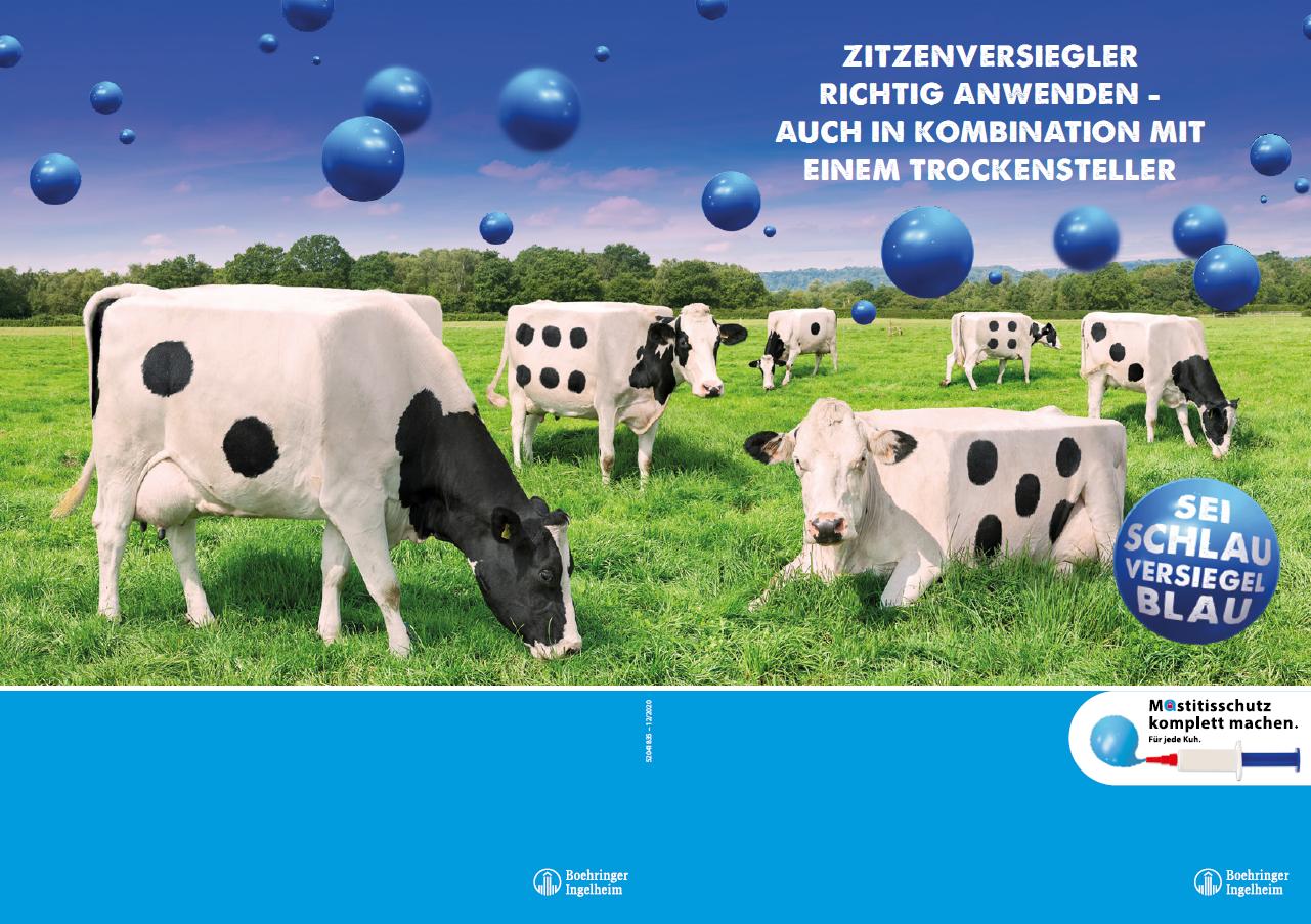 Poster Mastitisschutz komplett machen. Für jede Kuh.